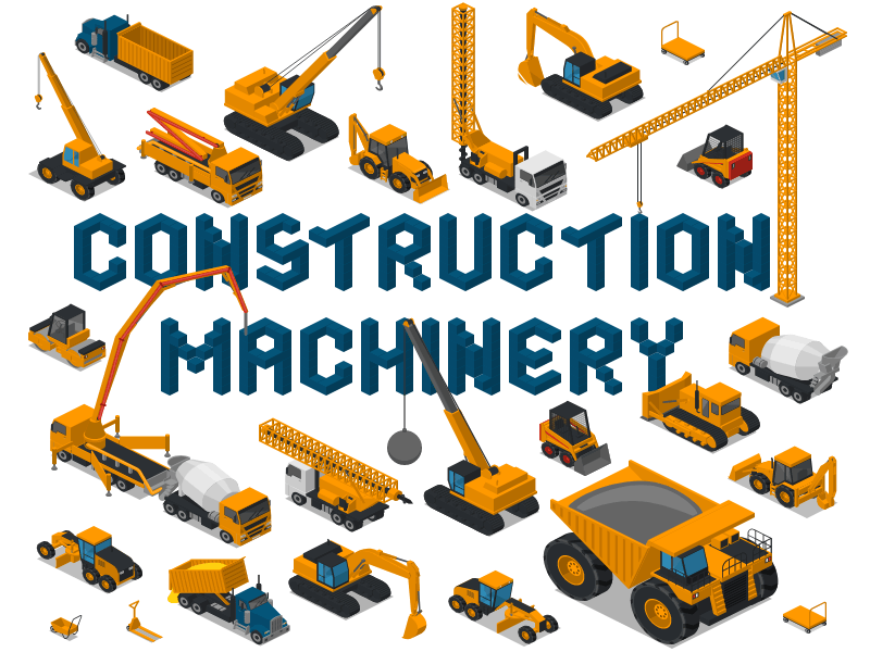 Construction Machinery By Icograms On Dribbble