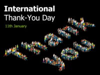 International Thank You Day Tempalte