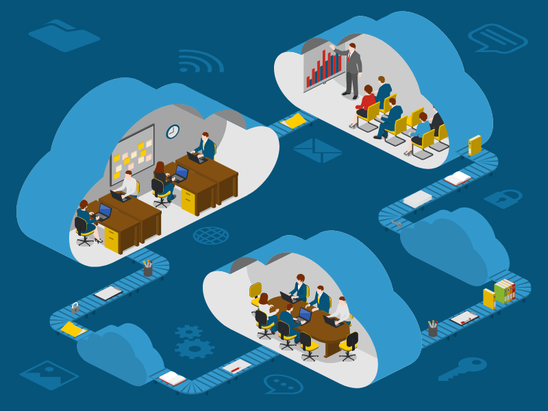 Cloud svg vector template icons isometric
