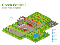 green festival map template