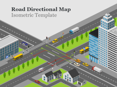 Road Directional Map