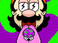 Mario sees god