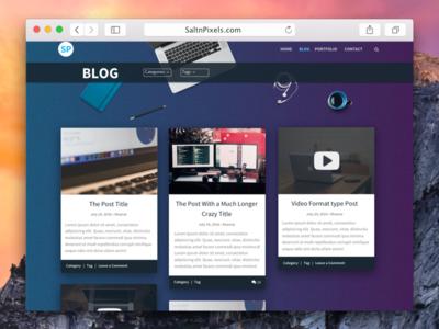 Saltnpixels Redesign masonry list article blog web design redesign
