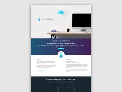 SaltnPixels Front Page redesign splash page site website front page