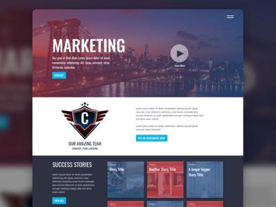 Marketing Site website splash page