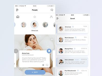 Work organiser browse ui mobile work list minimal flat app