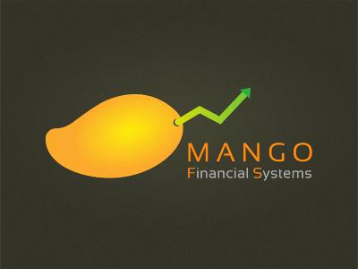 Mango Financial Systems Logo fintech logo branding finance mango fruit orange chart design