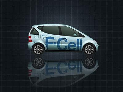 Vector Hydrogen Fuel Cell Car (Work in Progress) future car vector realistic mercedes illustrator hydrogen car fuel cell illustration futuristic automobile wheel