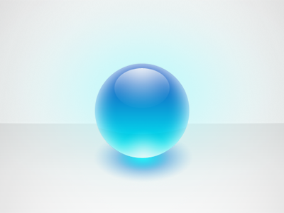 Glowing Glass Orb orb shiny glass sphere marble blue globe glowing ball glossy refraction translucent