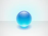 Glowing Glass Orb