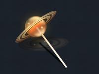 Saturn lollipop large