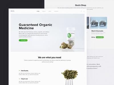 E-commerce Website for Cannabis Software Provider weed medical e-commerce landing ux ui theme software marijuana dispensary cannabis zajno