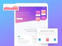 Marketing Website Page Design for Tablet