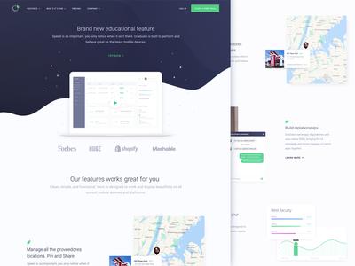 Homepage Design for Educational Analytics Startup web design ux ui analytics zajno professional minimalistic clean school education business