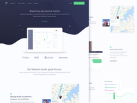 Homepage Design for Educational Analytics Startup