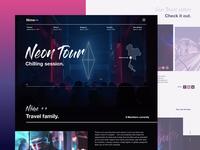 Travel Vlog Homepage Design