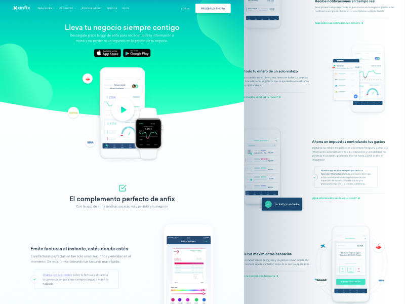 Feature Page Design For Invoicing Saas Company By Tolik Nguyen