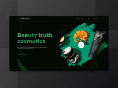 Branding Agency Website hero shot showreel portfolio beauty makeup cosmetics website zajno ux ui branding design