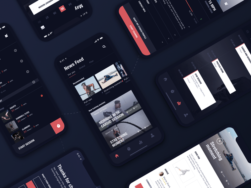 Workout App (WIP) personal profile trainer trainings workout iphonex iphone ios gym fitness app