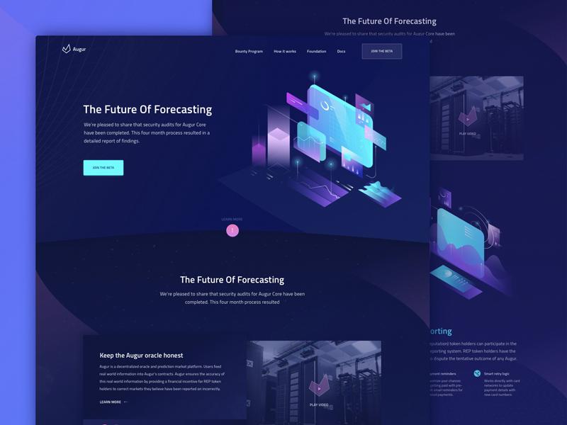 Landing Page ICO wallet app ios oneunite ux ui decentralized finance exchange blockchain futuristic
