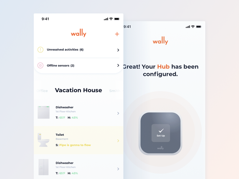 Wally Concept design ios clean startup product app ux ui