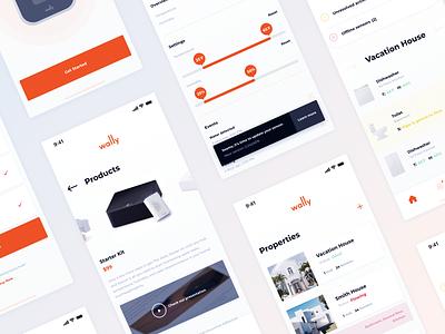Wally UI design analytics ios startup clean product app ux ui
