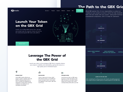 Feature page for the most leading ICO advisors blockchain ico whitespace illustration design business oneunite finance analytics website startup clean product ux ui
