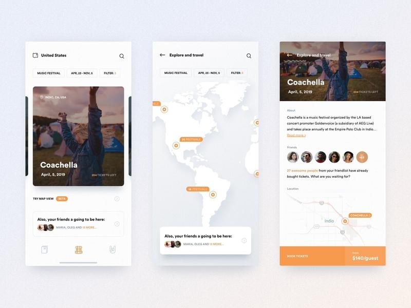 Festival/Event App fireart ios startup app clean ux ui