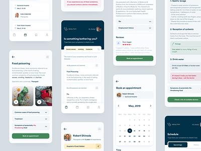 Healthy. Medical booking app medicine medical design ios startup app product clean ux ui