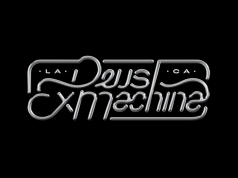 Deus Ex Machina Silver Lettering By Max Urbina On Dribbble