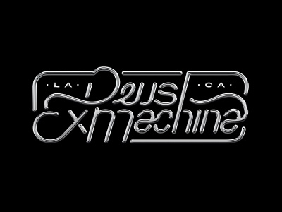 Deus Ex Machina Silver Lettering silver metal lettering art lettering typogaphy logo design