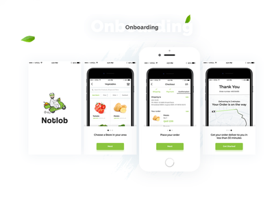 Notlob - Grocery IOS App / .psd Download free download freebies free xd free psd free home delivery lockdown app quarantine app coronavirus delivery app grocery app
