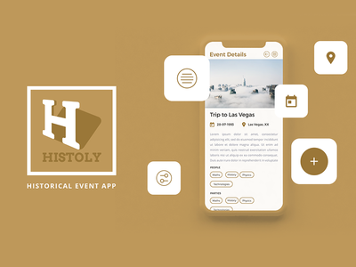 Histoly - Historical Events Mobile App usertinterface mobileapp india ux ui nihalgraphics