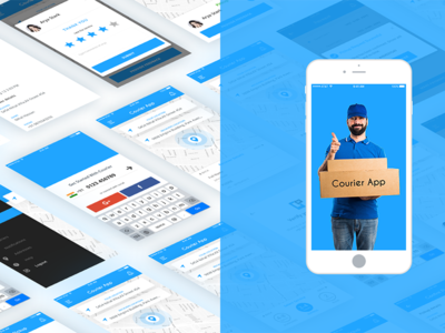 Courier App drivers delivery nihalgraphics india ui ux ios app courier