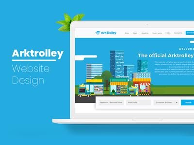 Arktrolley - Website Design startup website ui nihalgraphics india grocery ux australia