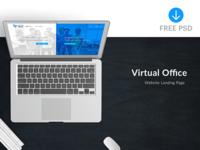 VOffice - Landing Page (Freebie)