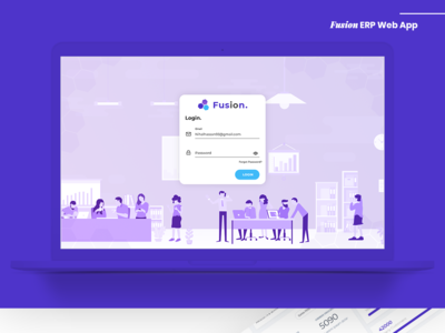 Fusion - ERP Web App illustration app nihal.graphics design nihalgraphics ui ux