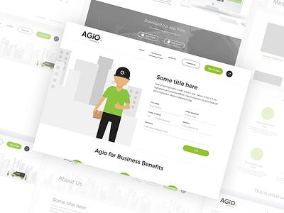 Agio - Website vector branding illustration mobile app designer android mangalore design mobile app www.nihalgraphics.com nihalgraphics delivery app delivery service delivery courier logistics india ui ux
