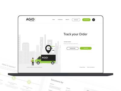 Agio - Order Tracking ios android web design www.nihalgraphics.com branding logo vector icon designer mobile app illustration mangalore mobile nihal.graphics app nihalgraphics ui india ux