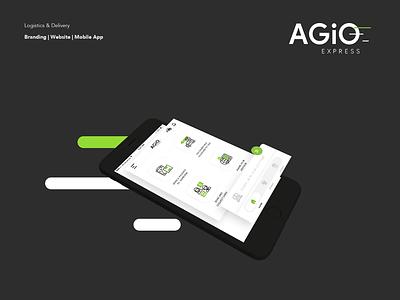 Agio - Mobile App Home design food app dubai logistics document delivery food delivery delivery nihal.graphics app mobile india ui ux