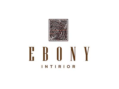 Ebony Interior - Logo logo a day logo 2d minimal wood ebony interior interior designer interior design flat logo designer mangalore logo india freebie logo desing logo