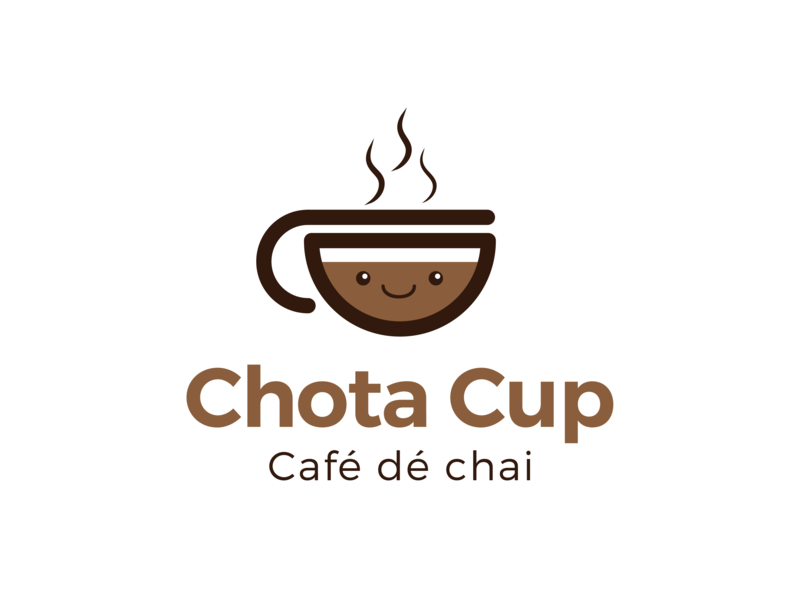 Chota Cup - Logo Design minimal icon flat typography freebie startup bangalore it food park web nihal.graphics www.nihalgraphics.com logo design mangalore vector branding illustration nihalgraphics india