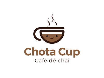 Chota Cup - Logo Design minimal icon flat typography freebie startup bangalore it food park web nihal.graphics www.nihalgraphics.com logo design mangalore vector branding illustration nihalgraphics india