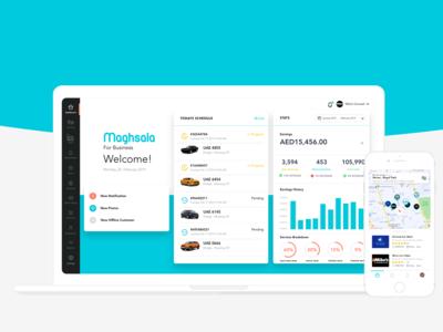 Product Design - Maghsala Car Wash (Web, Mobile)