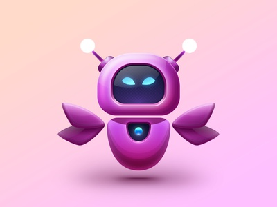 RoboFLY butterfly robot logo motion graphics graphic design 3d animation ui