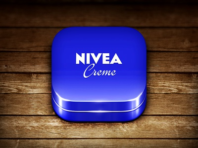 NIVEA icon ios iphone nivea ipad android blue sky ui interface