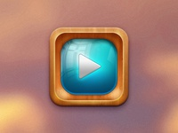 Telly 2.0 icon tv play iphone ipad ui interface