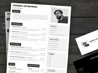 Resume Template - MS Word & Adobe Photoshop formats