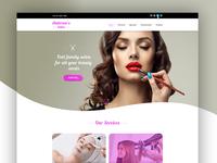 Saloon Website Design