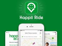 Happii Ride – Ride Sharing App Design
